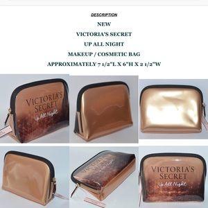 VICTORIA'S SECRET UP ALL NIGHT MAKEUP COSMETIC BAG